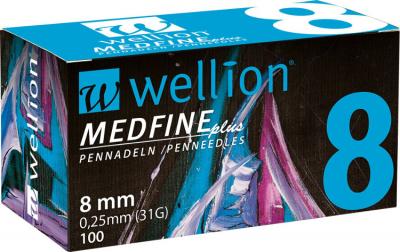 Иглы Медфайн Wellion Medfine Plus для инсулиновых шприц-ручек 8 мм (31G x 0,25 мм)