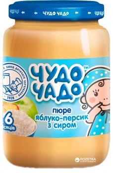 Упаковка пюре Чудо-Чадо Яблуко-персик із сиром з 6 місяців 175 г x 6 шт. (4820016253414)