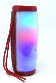 Портативна колонка Aspor TG-157 Plus (Червона) з RGB підсвіткою