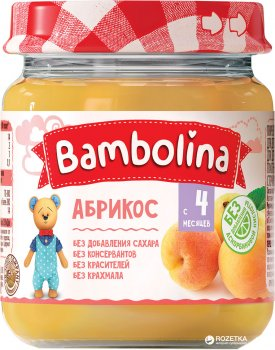 Упаковка пюре Bambolina Абрикос 100 г х 12 шт. (4813163001861)