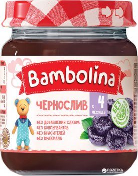 Упаковка пюре Bambolina Чорнослив 100 г х 12 шт. (4813163001939)