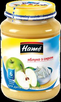 Упаковка фруктового пюре із сиром Hame Яблуко 190 г х 10 шт. (8595139702786)