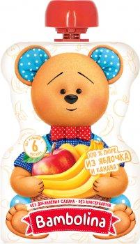 Упаковка фруктового пюре Bambolina Яблуко-банан з 6 місяців 90 г х 12 шт. (4813538007221)