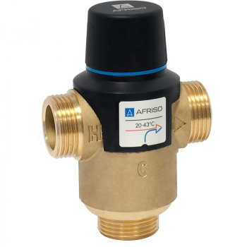 """3-ходовий термосмесітельний клапан Afriso ATM 761 G1"""" 20-43°С"""