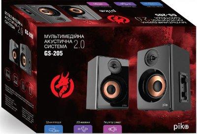Комп'ютерна акустична система 2.0 Piko GS-205 Black