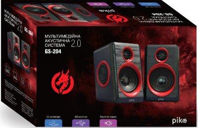 Комп'ютерна акустична система 2.0 Piko GS-204 Black