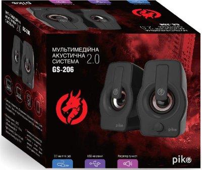 Комп'ютерна акустична система 2.0 Piko GS-206 Black