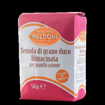 Мука Molino Naldoni Semola di grano duro Rimacinata 5 кг