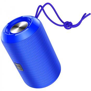 Портативна акустична система HOCO Trendy sound sports wireless speaker IPX5 HC1 |BT, TWS, AUX, FM, TF, USB| Blue