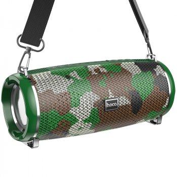Портативна акустична система HOCO Xpress sports BT speaker LED IPX5 HC2 |BT, TWS, AUX, FM, TF, USB| Camouflage-Green