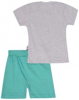 Костюм (футболка + шорты) Pattic 1267668 Серый с бирюзовым