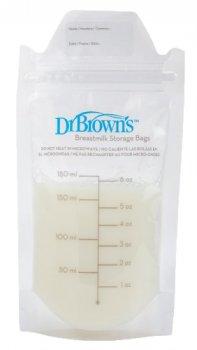 Пакети для зберігання дитячого молока Dr. Brown's 180 мл 25 шт. в упаковці (S4005-IT) (851606002086)
