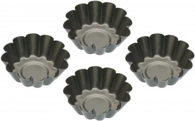 Набір форм для випікання кексів KitchenCraft NonStick 6х6х2 см 4 шт. (145994)