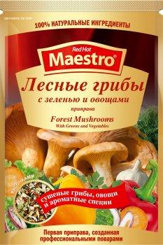 Упаковка приправы Ред Хот Маэстро Лесные грибы с зеленью и овощами 25 г х 25 шт (5060140290759)