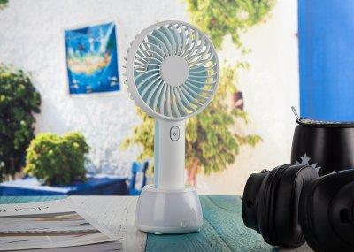 Ручний портативний вентилятор D40 Блакитний (АКБ 2000 mAh) (DS-102259) (OCUBE) (8567)