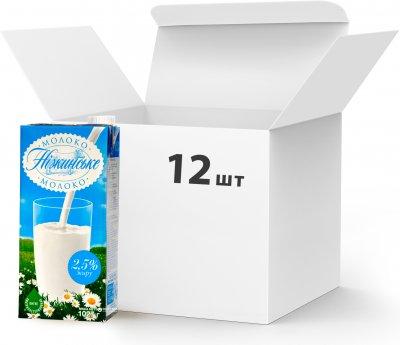 Упаковка молока ультрапастеризованного Нiжинське 2.5% 1027 г х 12 шт (4820111645701)