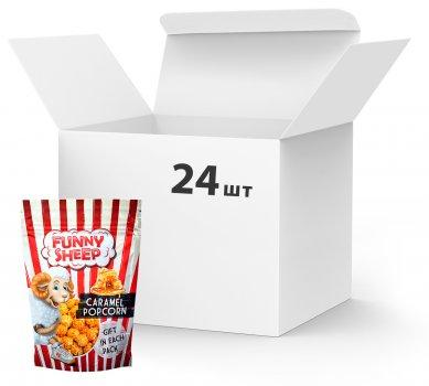Упаковка попкорну Funny Sheep у карамелі 100 г х 24 шт. (14820069740791)