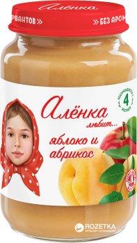 Упаковка пюре Аленка Любит Яблуко-абрикос 170 г х 6 шт. (4813163002585)