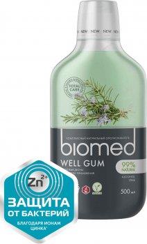Ополаскиватель для полости рта BioMed Well Gum Антибактериальный Здоровье десен Мята 500 мл (7640168930639)