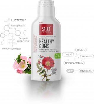 Ополаскиватель для полости рта Splat Healthy Gums Антибактериальный здоровье дёсен и защита от кровоточивости 275 мл (4603014009982)