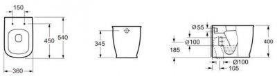 Унітаз підлоговий DEVIT Afina із сидінням Soft Close дюропласт 3030150