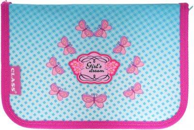 Пенал Class Girl's Dreams 1 отделение 1 отворот пустой (99100/8591662091007)