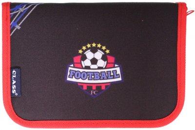 Пенал Class Football 1 відділення 2 закоти порожній (99211/8591662992113)