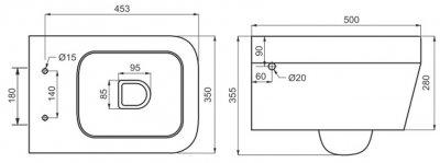 Унітаз підвісний DEVIT Optima зі сидінням Soft Close дюропласт 3120130