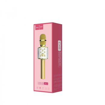 Безпровідний мікрофон караоке Hoco BK3 Gold