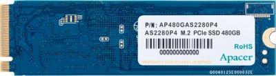 Apacer AS2280P4 480GB NVMe M.2 2280 PCIe 3.0 x4 3D NAND TLC (AP480GAS2280P4-1)