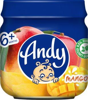 Упаковка дитячого пюре Andy Манго 80 г х 12 шт. (4813163003407)