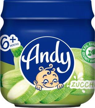 Упаковка дитячого пюре Andy Кабачок 80 г х 12 шт. (4813163003483)