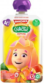 Упаковка дитячого пюре Фіксікі Персик в паучі 90 г х 12 шт (4813163003360)