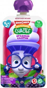 Упаковка дитячого пюре Фіксікі Ягідний салатик в паучі 90 г х 12 шт (4813163003377)