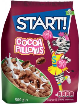 Упаковка сухого завтрака Start с какао начинкой 500 г х 8 шт (4820008125507)