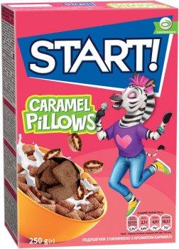 Упаковка сухого завтрака Start подушечки с ароматом карамели 250 г х 16 шт (4820008128669)