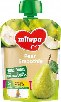 Упаковка фруктового пюре Milupa Груша з 6 місяців 80 г х 6 шт. (6438091403549)