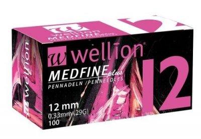 Иглы для инсулиновых шприц-ручек Wellion Medfine Plus 12 мм (29G x 0,33 мм)