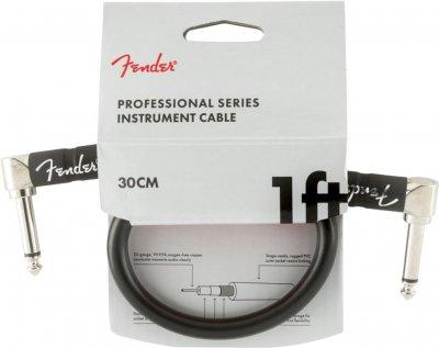 Інструментальний кабель Fender Cable Professional Series 1 ft 30 см Black (228413)