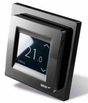 Терморегулятор DEVI Devireg Touch (черный) программируемый для теплого пола