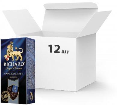 Упаковка чая черного с добавками пакетированного Richard Earl Grey 25 пакетиков х 12 шт (4823063701853)