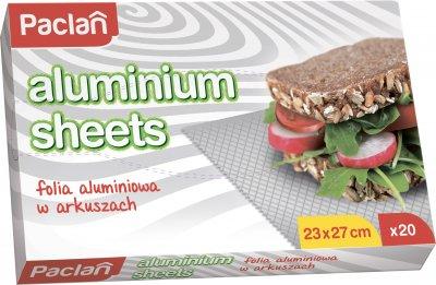 Упаковка фольги алюмінієвої Paclan в аркушах 2 шт. по 20 аркушів (5900942137152)