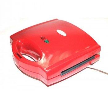 Гриль електричний прес для будинку WIMPEX 750 Вт кращий електрогриль сэндвичница бутербродниця домашній для барбекю контактний настільний притискної мультипекарь червоний WX1056RG