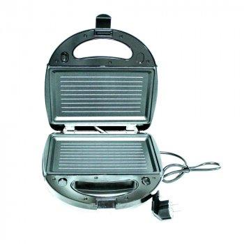 Сэндвичница гриль електричний прес для будинку Crownberg 750 Вт кращий електрогриль бутербродниця домашній для барбекю контактний настільний притискної мультипекарь CB1071S