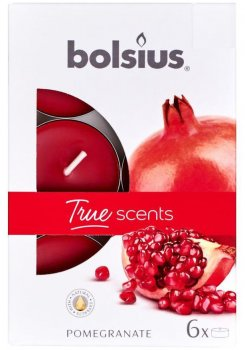 Свічки ароматичні Bolsius 4 години коробка 6 шт. Гранат (941515)