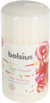 Свічка Bolsius стовпчик ребриста 120/58 з ароматом New energy Грейпфрут та імбир (266784)