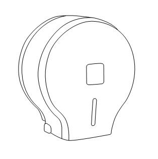 Диспенсер для туалетного паперу джамбо білий пластик JTA 100