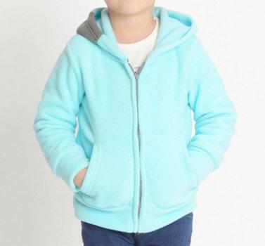 Кофта для мальчика флисовая утеплённая Дизайн, голубой Berni Голубой (Kivik)