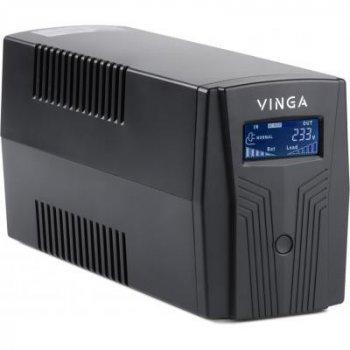 Пристрій безперебійного живлення Vinga LCD 600VA plastic case (VPC-600P)