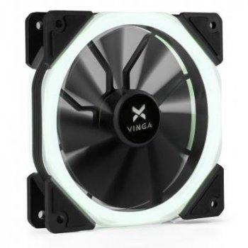 Кулер для корпуса Vinga LED fan-02 white